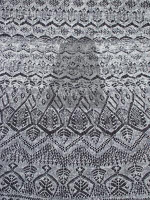 Fine lace Shetland shawl