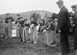 Sack race at a picnic Pund Whiteness