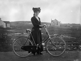 Marie Stuart with bicycle