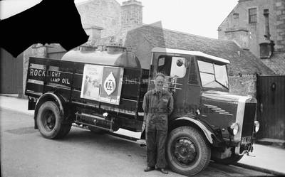 Hubert Inkster with tanker lorry