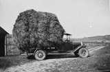 Lorry loaded with hay