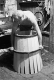 Man making barrel